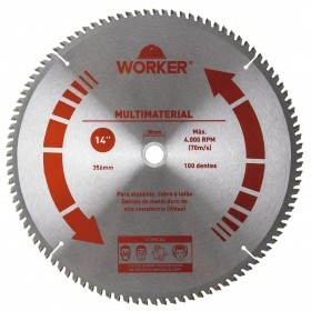 Serra Circular Multimaterial 14'' 100 Dentes 30mm WORKER 471631