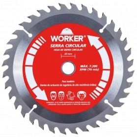 Serra Circular Widea 7.1/4 48 Dentes 20mm WORKER 403504