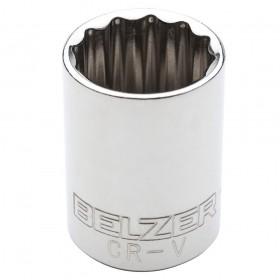 Soquete Estriado 23mm Encaixe 1/2 BELZER 204014BBR