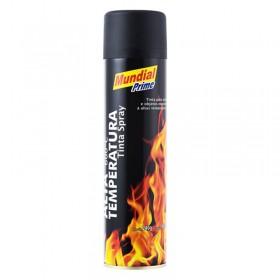 Tinta Spray 400ml Alta Temperatura Preto Fosco Mundial Prime