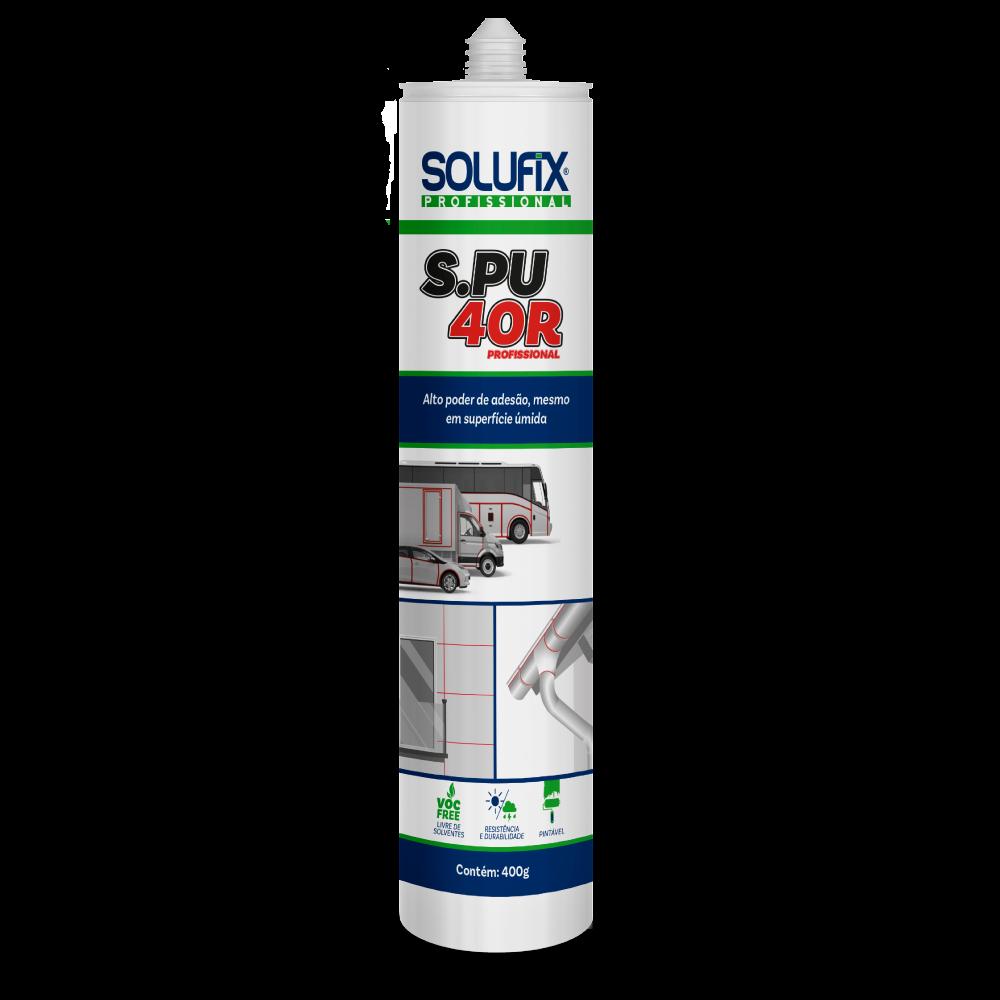Selante Poliuretano Híbrido Com Silano Tubo Branco 400gr SOLUFIX SPU 40R