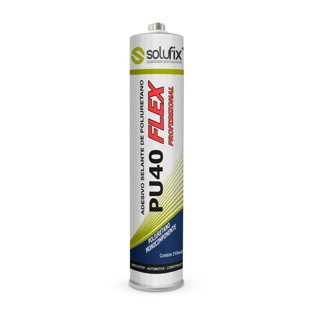 Selante Poliuretano Tubo Cinza 300ml SOLUFIX PU 40 Flex