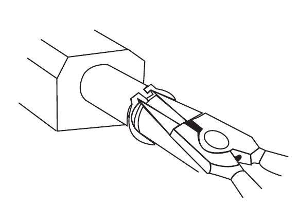 Alicate Anel Externo Reta 7'' (10-40mm) SATA ST72001ST