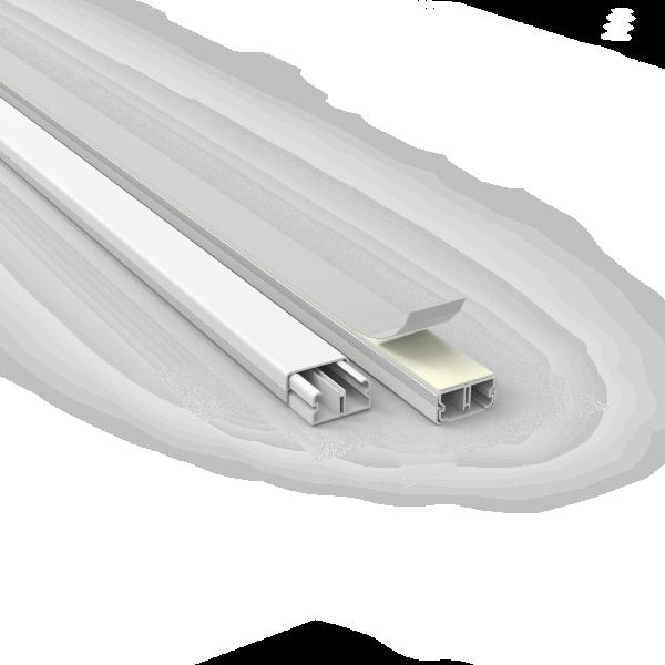 Canaleta 20X10 Com Fita Dupla Face Branca 361/2-EF50 ENERBRAS