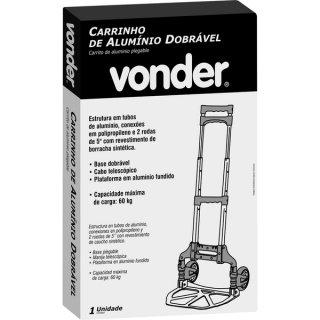 Carrinho Dobrável De Alumínio 60kgF VONDER 61.60.060.000