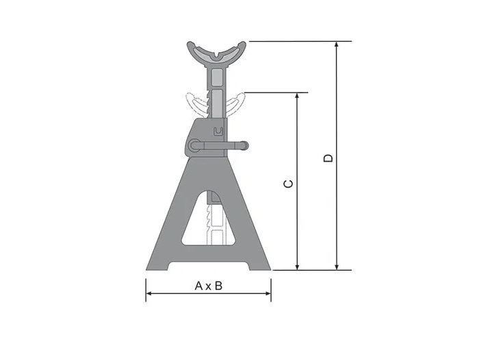 Cavalete Para 3.000 kg (Par) BOVENAU