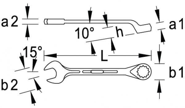 Chave Combinada Catraca Reversível 11mm GEDORE RED 3300854