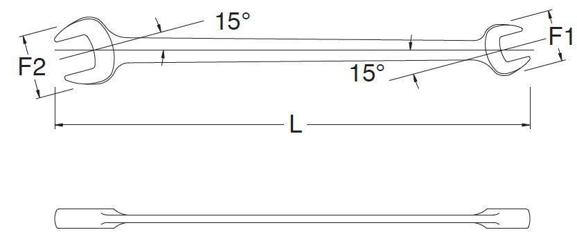 Chave Fixa 19X22mm SATA ST41215SC