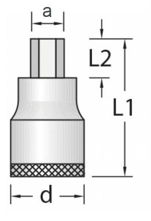 Chave Soquete Allen 12mm Encaixe 1/2 GEDORE 016.060