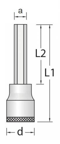 Chave Soquete Allen Longo 8mm Encaixe 1/2 GEDORE 016.340