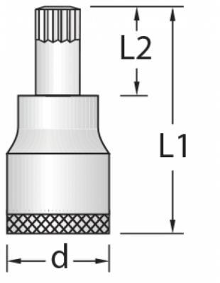Chave Soquete Multidentado 6mm Encaixe 1/2  GEDORE 016.710