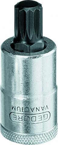 Chave Soquete Multidentado 10mm Encaixe 1/2 GEDORE 016.730