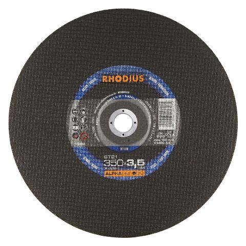 Disco de Corte ALPHA ST21 350X3,5X25,40 RHODIUS 201330