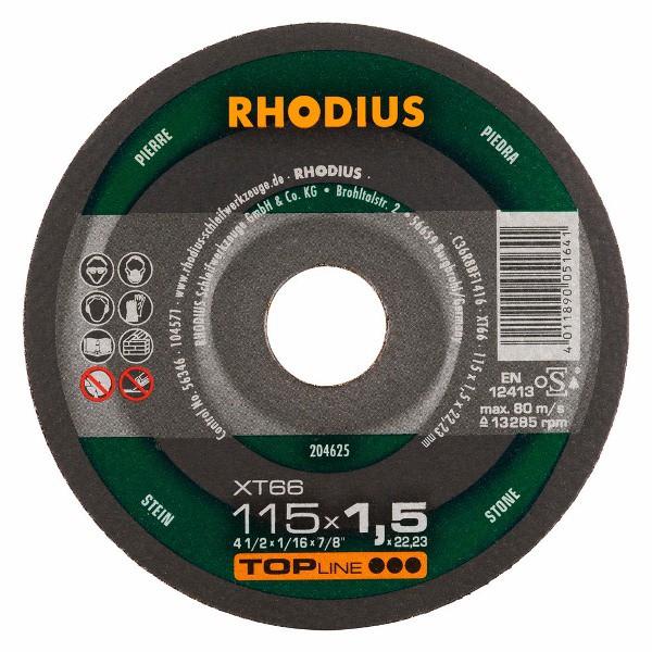 Disco de Corte Para Pedra TOP XT66 115X1,5X22,23 RHODIUS 204625