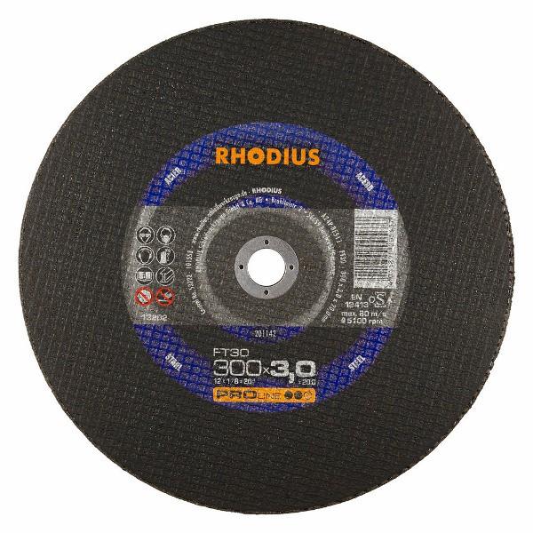 Disco de Corte PRO FT30 300X3,0X20,00 RHODIUS 201142 Rhodius