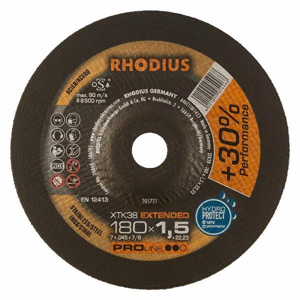 Disco de Corte PRO XTK38 180X1,5X22,23 RHODIUS 205721