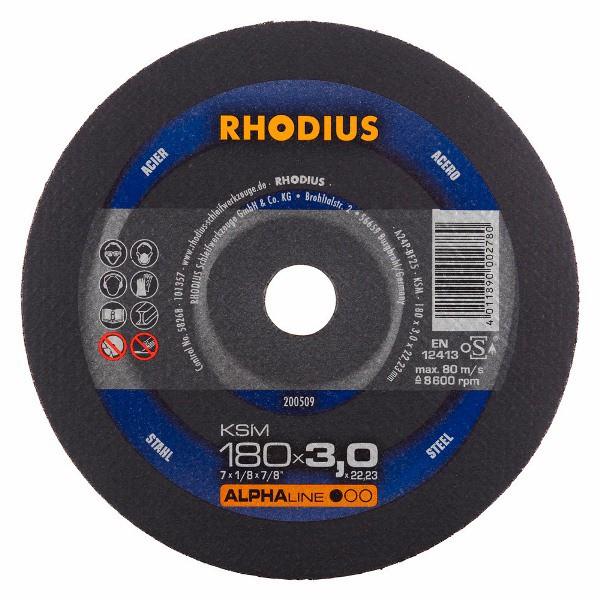 Disco de Corte ALPHA KSM 180X3,0X22,23 RHODIUS 200509