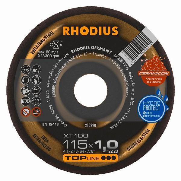 Disco de Corte Ceramicon XT100 EXTENDED 115X1,0X22,23 RHODIUS 210220