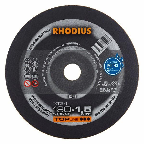 Disco de Corte TOP XT24 180X1,5X22,23 RHODIUS 205913