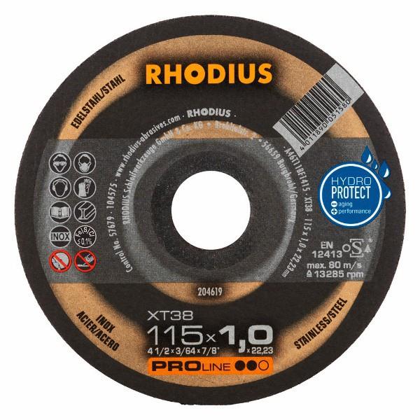 Disco de Corte PRO XT38 115X1,0X22,23 RHODIUS 204619