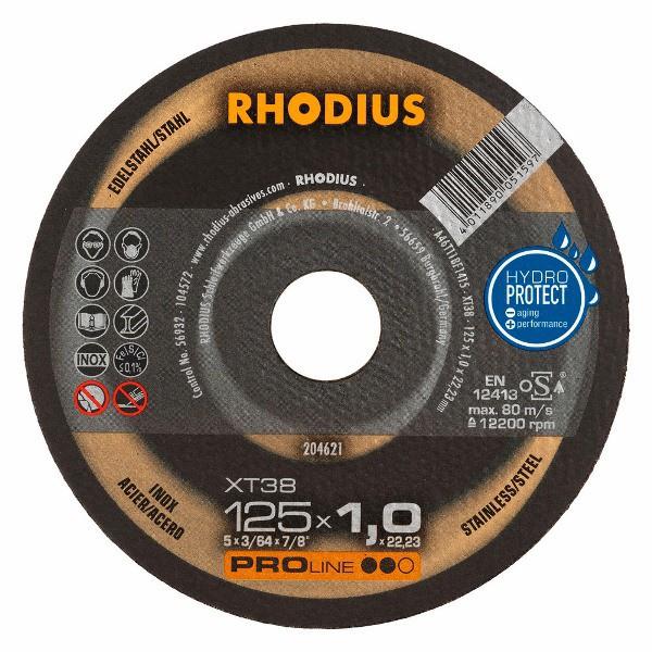 Disco de Corte PRO XT38 125X1,0X22,23 RHODIUS 204621