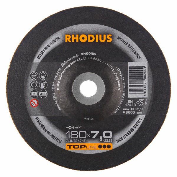 Disco de Desbaste TOP RS24 180X7,0X22,23 RHODIUS 200364