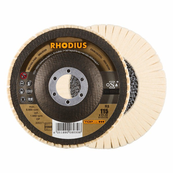 Disco Flap Feltro FLS 115X22,23 D5/H40 SUAVE 305371 RHODIUS