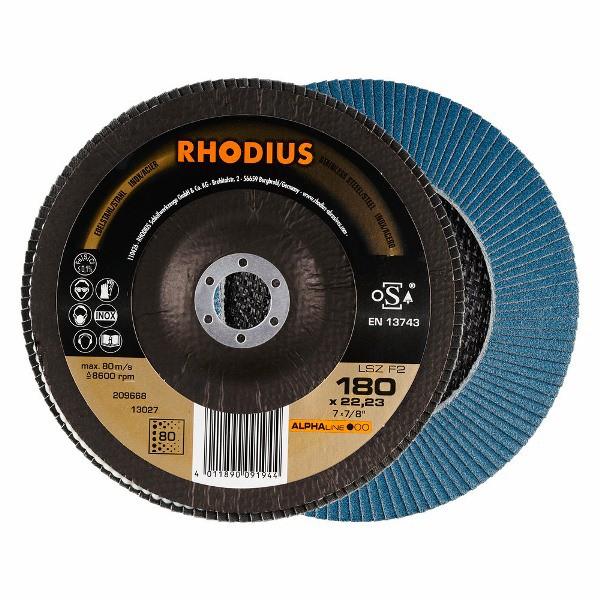Disco Flap ALPHA LSZ F2 ANG 180x22,3 GR80 RHODIUS 209668
