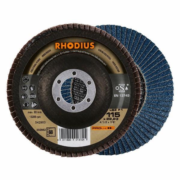 Disco Flap PRO LSZ F1 ANGULAR 115X22,23 GR60 RHODIUS 202662