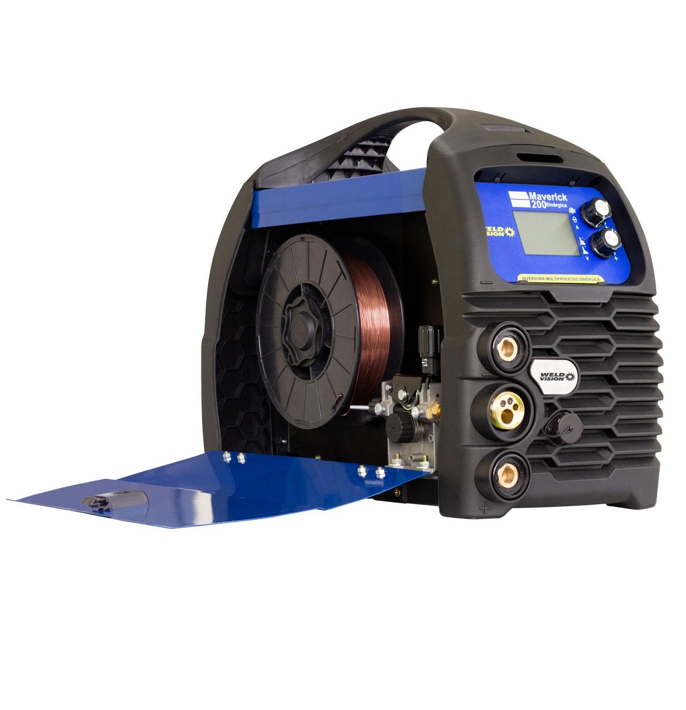 Inversora de Solda 220V MIG/TIG/Eletrodo Maverick 200 Sinérgica WELD VISION