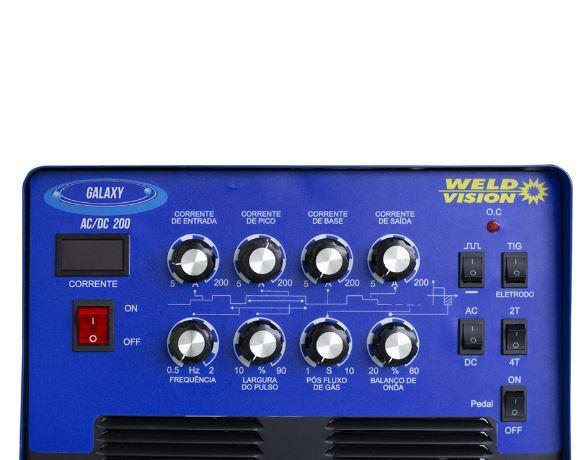 Inversora De Solda Galaxy AC/DC 200 (B)  Weld Vison