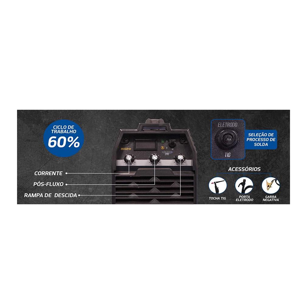 Inversora De Solda TIG Galaxy 200 220V WELD VISION