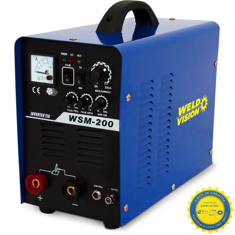 Inversora De Solda Monofásica WSM-200 220V WELD VISION