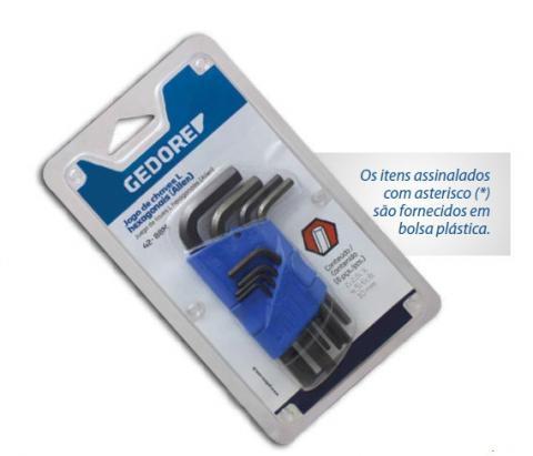 Jogo De Chave Allen L 10 Peças 2-10mm GEDORE 012.111