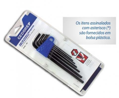 Jogo De Chave Allen L Abaulada 7 Peças 2-8mm GEDORE 012.955