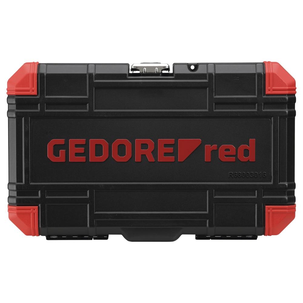 Jogo de Soquete e Chaves Soquete TX (Perfil Hexalobular) 16 Peças Encaixe 1/2 GEDORE RED 3300009