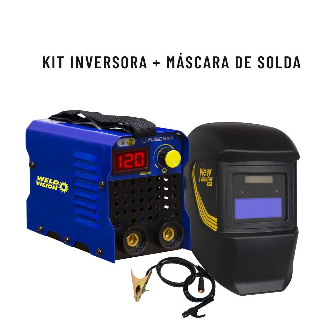 Kit Inversora Fusion 120 + Mascara Start New Welder