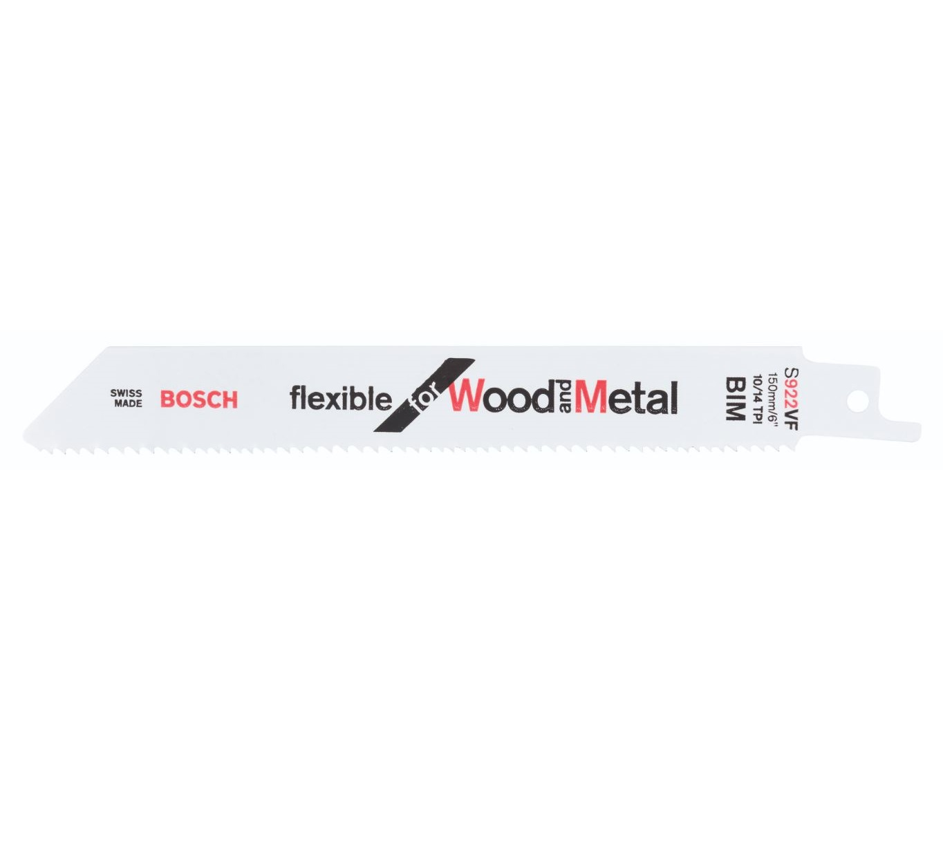 Lâmina De Serra Sabre Flexible For Wood And Metal Pacote 2 Peças BOSCH S922VF 2608656040