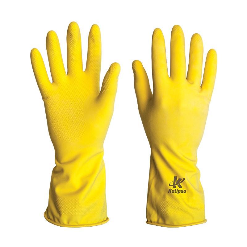 Luva De Proteção Látex Amarelo 7/P KALIPSO 02.04.1.1