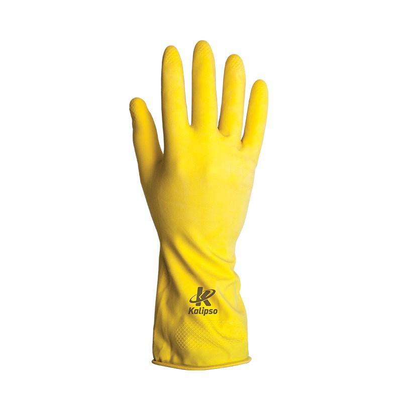 Luva De Proteção Látex Amarelo 8/M KALIPSO 02.04.1.2