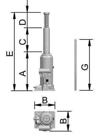 Macaco Hidráulico 12.000kg BOVENAU 12700