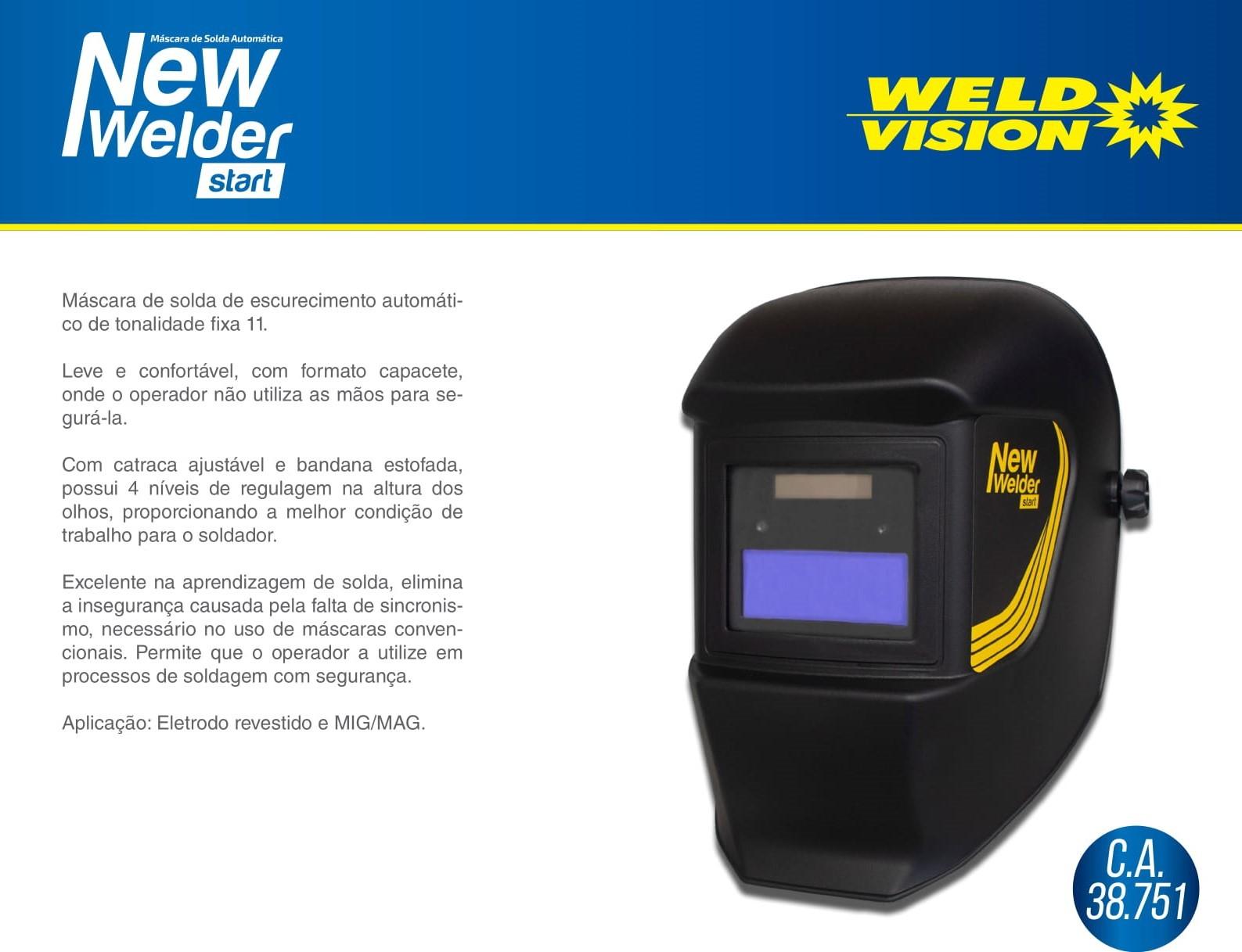 Máscara de Solda Automática Start New Welder WELD VISION