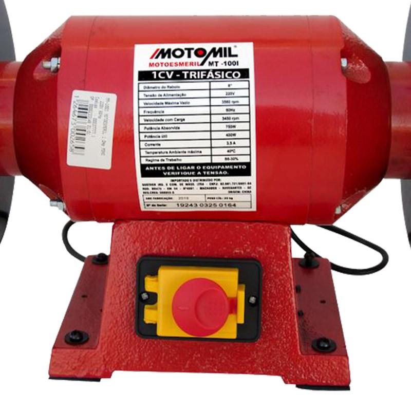 Motoesmeril 1,0hp 60hz 220/380v Trifásico MOTOMIL MT-100I