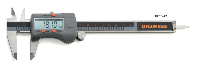 Paquímetro Digital Com Dígitos Grandes 150mm/6'' DIGIMESS 100.174BL