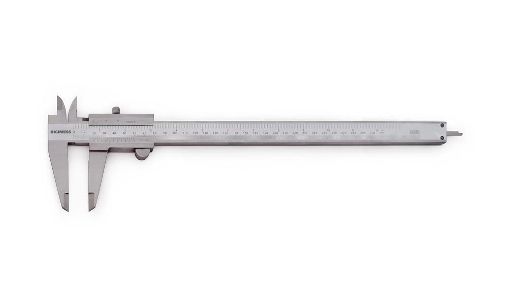 Paquímetro Universal Em Titânio 300mm/12'' / +- 0,08mm / 0,05mm/1/128''  DIGIMESS 100.020 TIN