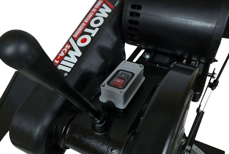 Serra Policorte Para Alumínio 10'' Com Motor 1hp 127V/220V Monofásica MOTOMIL SCA-100