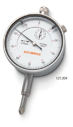 Relógio Comparador 0-10mm / +- 0,015mm / 0,01mm DIGIMESS 121.304