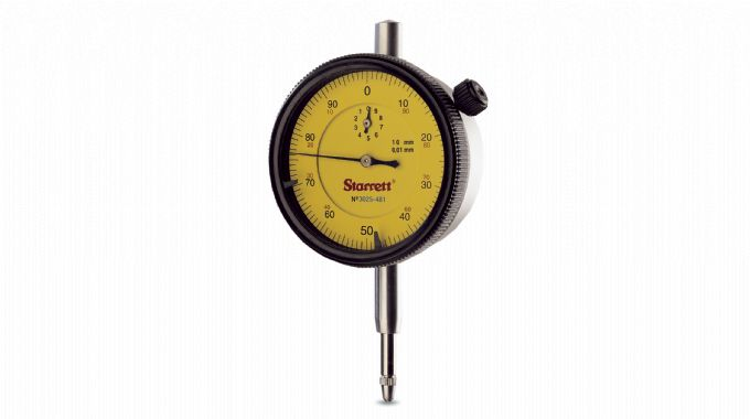 Relógio Comparador 10mm 0,01 0-100/100-0 Haste 8mm STARRETT 3025-481