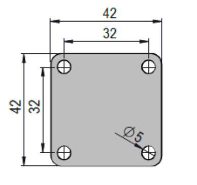 Rodízio De Cristal De PVC Em Gel 2''X3/4 Placa Giratória Com Freio COLSON GLPF.210.PVC