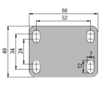 Rodízio De Resina Termoplástica 2''X3/4 Placa Giratória Com Freio COLSON GLPF.210.BP.FP